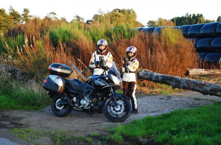 Andy and Gosia with the Vstrom