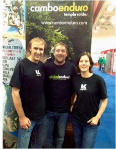 Craig Bounds and Tamsin Jones with Cambo Enduro rep