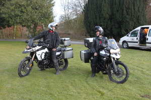 Bob and Griff on thier bikes