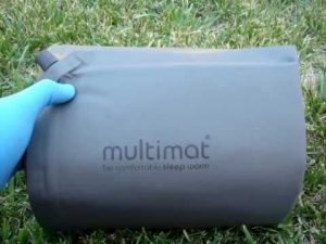 rolled up self inflating mat