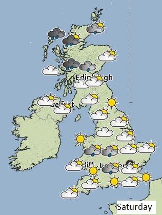 Weather on Saturday