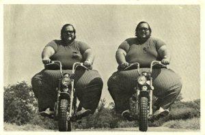 fat men on bikes