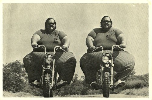 fat men on bikes