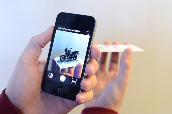 V strom augmented reality