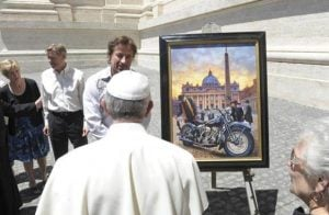 Date set for auction of Pope's Harley Davidson