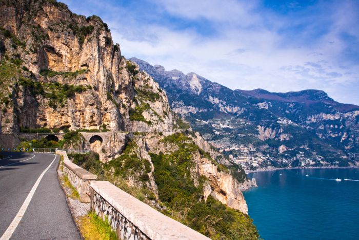 the amalfi coast of italy is one of the best european motorcycling destinations