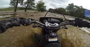 Video of the week: Motorcyclist attempts to cross flash flood