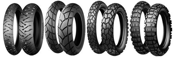 A selection of different tyres