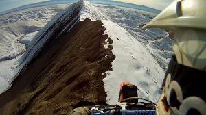 Video of the week: Man traverses deadly knife-edge ridge on Honda CR250