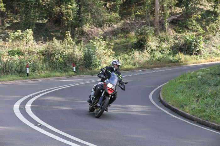 BMW F800GSA on road
