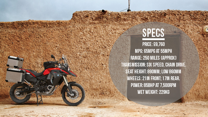 BMW F800GS Adventure quick specs