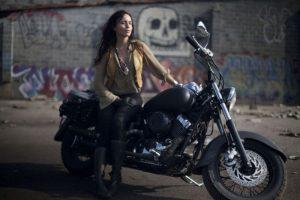 Janelle Kaczmarzewski riding Laos