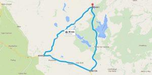 The Evo Triangle route map
