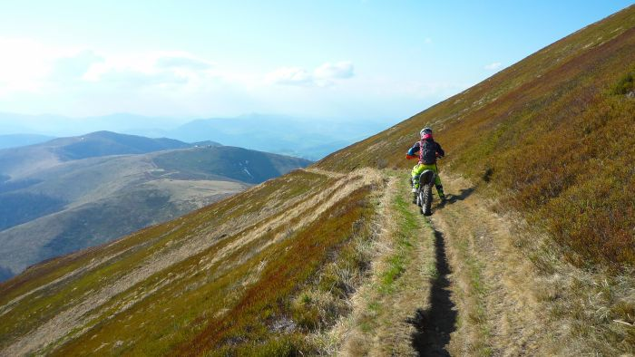 Riding Ukraine's Carpathian Mountains