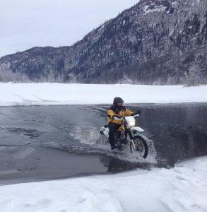 Winter water crossing