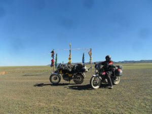 David and the bikes, Mongolia