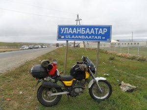 David Nixon's bike, Ulaanbataar, Mongolia