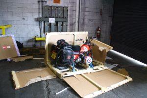Freighting a motorbike overseas
