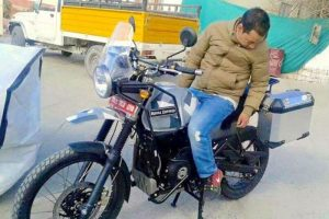 Royal Enfield Himalayan spy shot