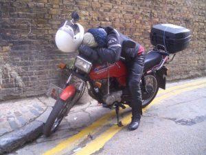 Sleepy biker