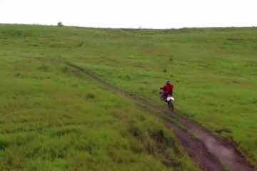 Trail riding in Papua New Guinea