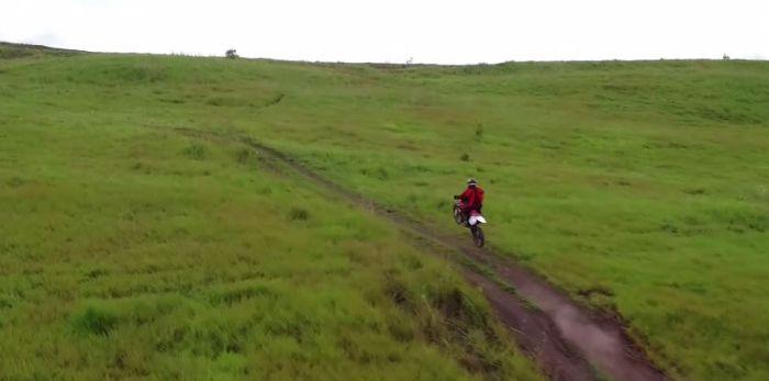 Trail riding in Papua New Guinea