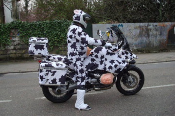 Adventure bike with cow styling