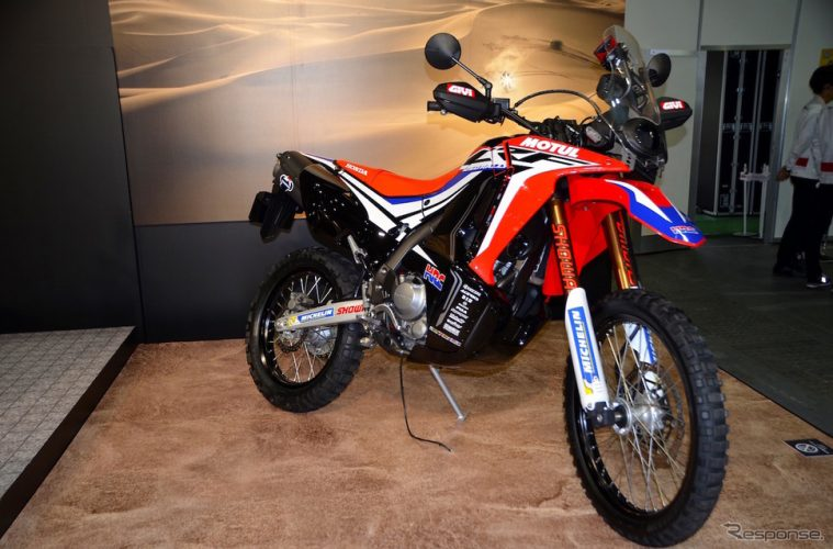 honda crf250 rally on show at osaka motorcycle show adventure bike rider. Black Bedroom Furniture Sets. Home Design Ideas