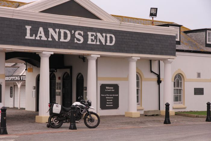 Motorcycle touring Land's End