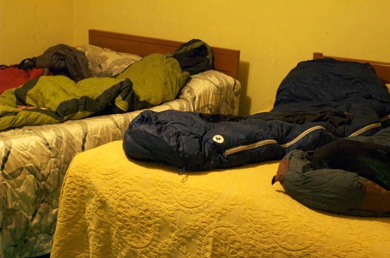 Camping in a hotel