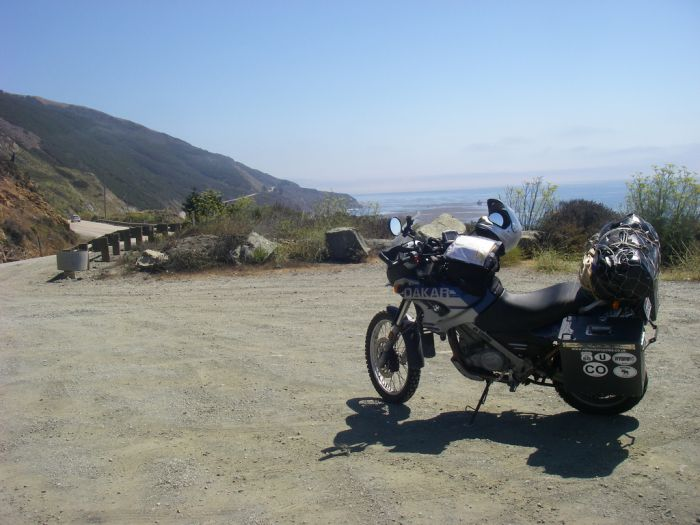 Motorcycle on California State Route 1