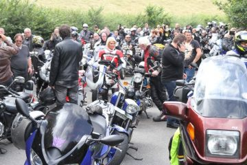 A group of bikers