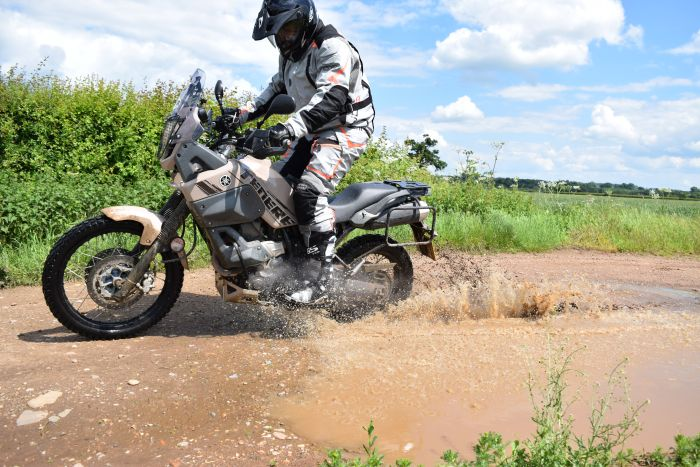 Off road on a Yamaha Tenere