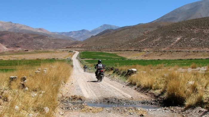 Round the world adventure motorcyclist