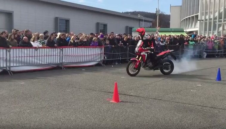 Honda Africa Twin stunt video
