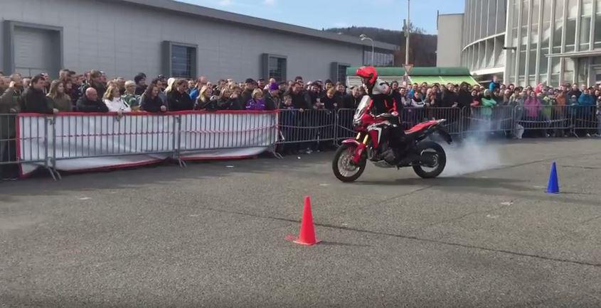 Honda Africa Twin stunt video