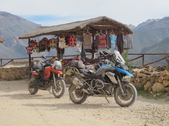Motorcycle touring in Peru