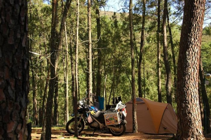 Motorcycle camping in Portugal