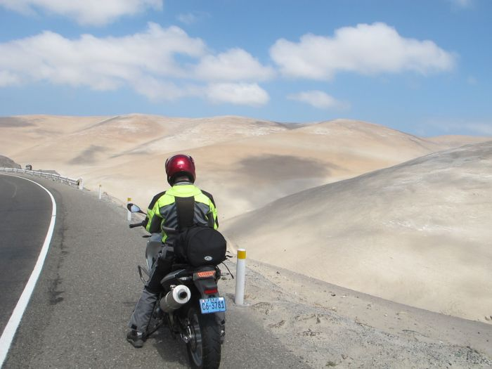 Adventure motorcycling in Peru