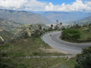 Twisty roads in the Andes