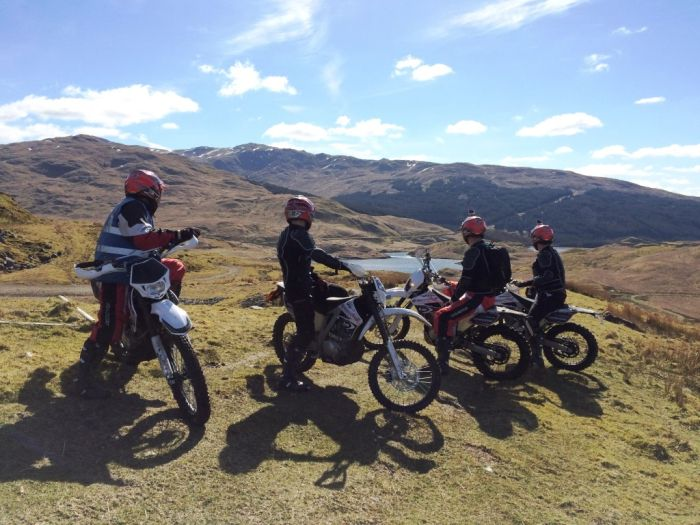 Off-road riding in Scotland