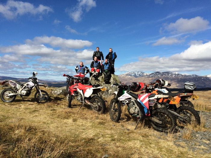 Off-road ridng in Scotland
