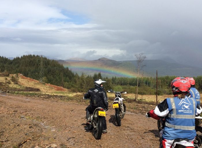 Off-road motorcycling in Scotland