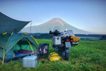 Motorcycle camping in Japan