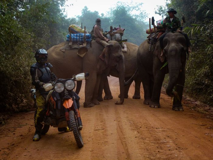 Adventure motorcycling in Laos