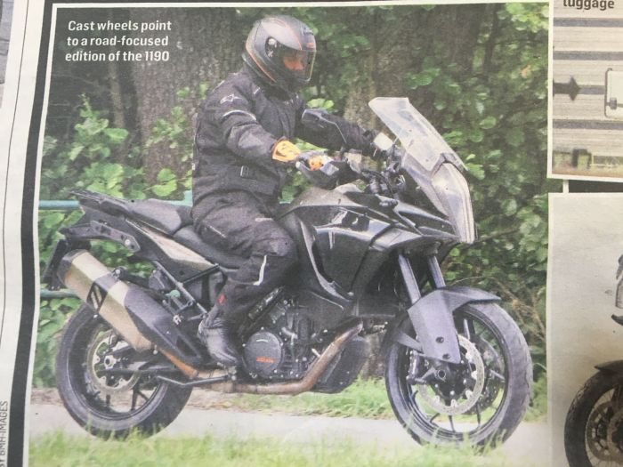 KTM 1190 Adventure 2017 spy shots