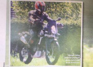 KTM 800 Adventure spy shot