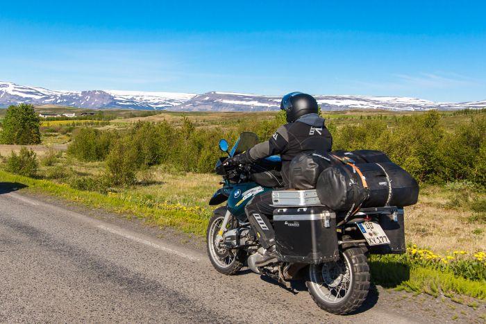 Biker in Iceland