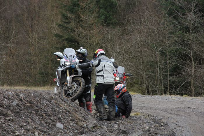 Motorcycle accident off-road