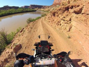 Riding White Rim Road in Canyonlands, Utah
